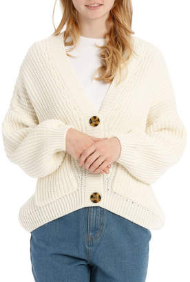 Miss Shop Chunky Button Front Cardigan