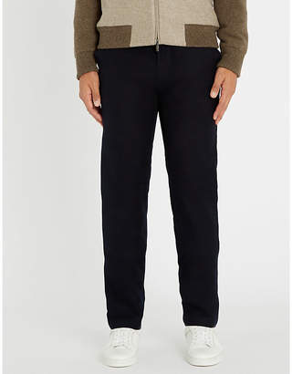 Richard James Regular-fit straight stretch-cotton trousers