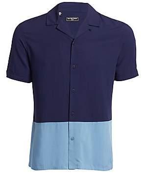 Saks Fifth Avenue Men's MODERN Colorblock Camp Shirt