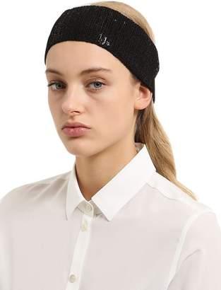 Sequined Cotton Headband