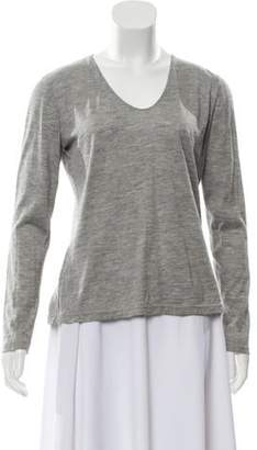 Akris Cashmere Long Sleeve Top Grey Cashmere Long Sleeve Top