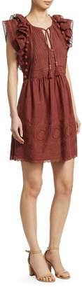 Sea Sofie Pompom & Lace Trim Dress