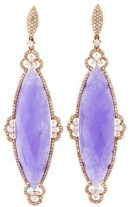 Rina Limor Fine Jewelry 18K Dyed Quartzite & Diamond Drop Earrings