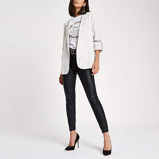 River Island Light grey bow cuff blazer