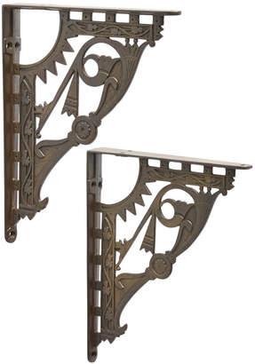 Rejuvenation Large Pair of Victorian Aesthetic Cast Iron Brackets