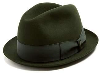 Borsalino - Alessandria Narrow Brim Felt Hat - Mens - Khaki