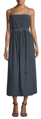 Robert Rodriguez Tie Polka-Dot Midi Dress
