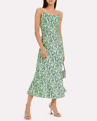 Olivia Rubin Lia Silk Zebra Slip Dress