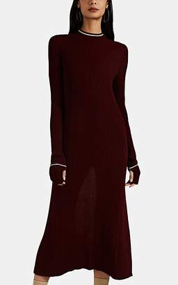 Maison Margiela Women's Rib-Knit Cutout Sweaterdress - Wine