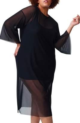 Universal Standard Thames Belle Fog Mesh Dress