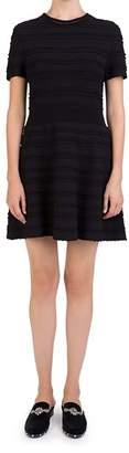 The Kooples Short-Sleeve Ribbed Knit Dress