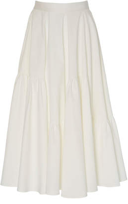 Tome Full Paneled Cotton Midi Skirt