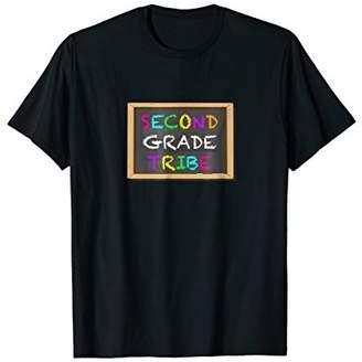 2nd Second Grade Tribe Student Teacher Chalkboard T-Shirt