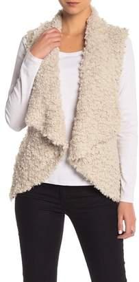 Coffee Shop Fuzzy Knit Vest