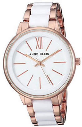 Anne Klein Analog Rose Goldtone and Lucite Bracelet Watch