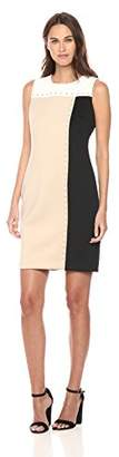 Tommy Hilfiger Women's Color Block Scuba Sheath Grommets