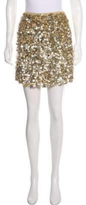 Jenni Kayne Sequin Mini Skirt Gold Sequin Mini Skirt