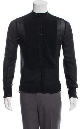 Gucci Ruffled Silk Shirt
