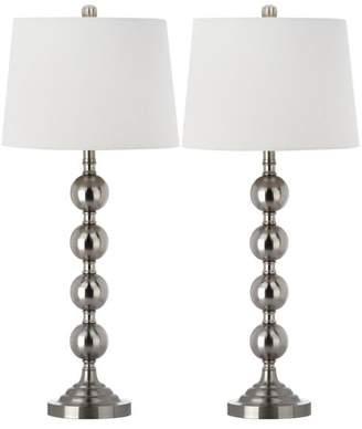 Safavieh Stacked Gazing Ball Lamp, Set of 2, White Shade