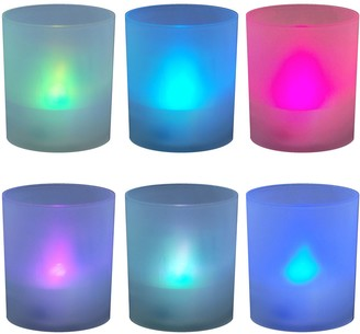Lumabase LumaBase Frosted Plastic Color-Changing LED Candle 6-piece Set