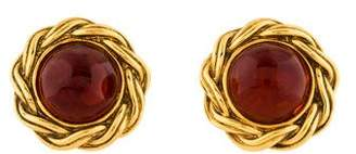 Chanel Gripoix Clip-On Earrings