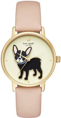 Kate Spade Women's Grand Metro Vachetta Leather Strap Watch 38mm