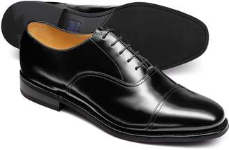 Charles Tyrwhitt Black Goodyear Welted Oxford Rubber Sole Shoe Size 11.5