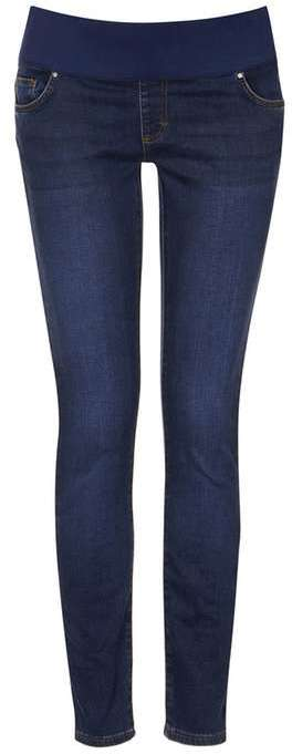 TopshopTopshop Maternity moto dark vintage blue leigh jeans