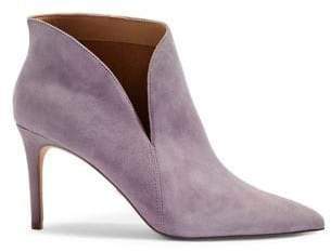 Topshop Suede Side Slit Ankle Boots