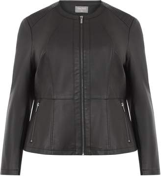 Next Womens Oasis Black Curve Collarless Jacket