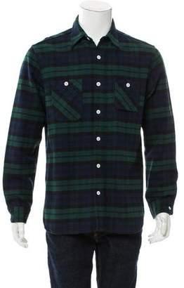 Beams Plaid Button-Up Shirt