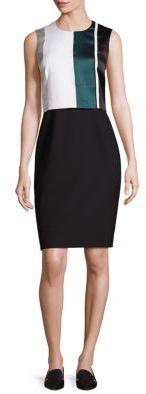Dastrina Striped Overlay Sheath Dress $695 thestylecure.com