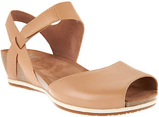 Dansko Leather Peep- toe Sandals - Vera