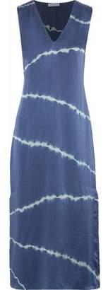 Equipment Tie-Dye Silk Midi Dress