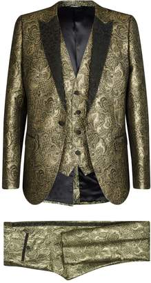 Dolce & Gabbana Metallic Jacquard Three-Piece Suit