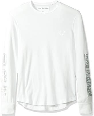 True Religion Men's Collegiate Graphic Long Sleeve Thermal2