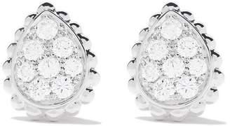 Boucheron 18kt white gold Serpent Bohème diamonds XS teardrop stud earrings