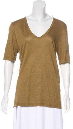 Etoile Isabel Marant V-Neck Short Sleeve Top