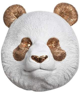 White Faux Taxidermy Faux Resin Panda Bear Head Wall Mount