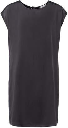 Ya-Ya Black Cupro Dress With Tie Detail - 12 - Black