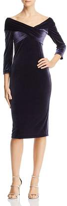 Finders Keepers Romana Off-the-Shoulder Velvet Dress