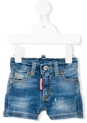 DSQUARED2 faded denim shorts