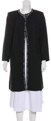 Magaschoni Embellished Knee-Length Coat