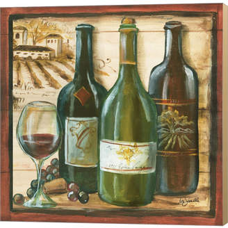 Metaverse Wooden Wine Square 2 By Tre Sorelle Studios Canvas Art