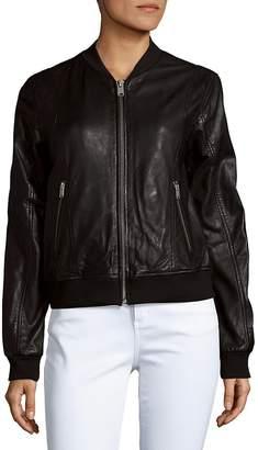 Andrew Marc Women's Wynn Leather Baseball Jacket