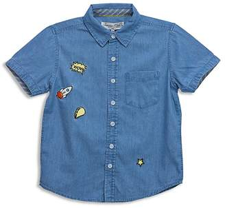 Sovereign Code Boys' Chambray Shirt with Patches - Little Kid