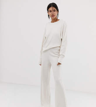 Asos DESIGN tall premium lounge knitted ribbed wide leg
