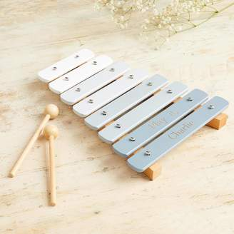 My 1st Years Personalised Grey Wooden Xylophone Toy