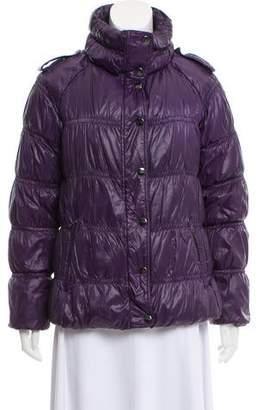 Burberry Mock Neck Down Jacket