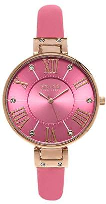 SO&CO New York Women's 'SoHo' Quartz Metal and Leather Dress Watch